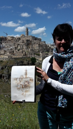 watercoloursketch Matera A4 Moleskine